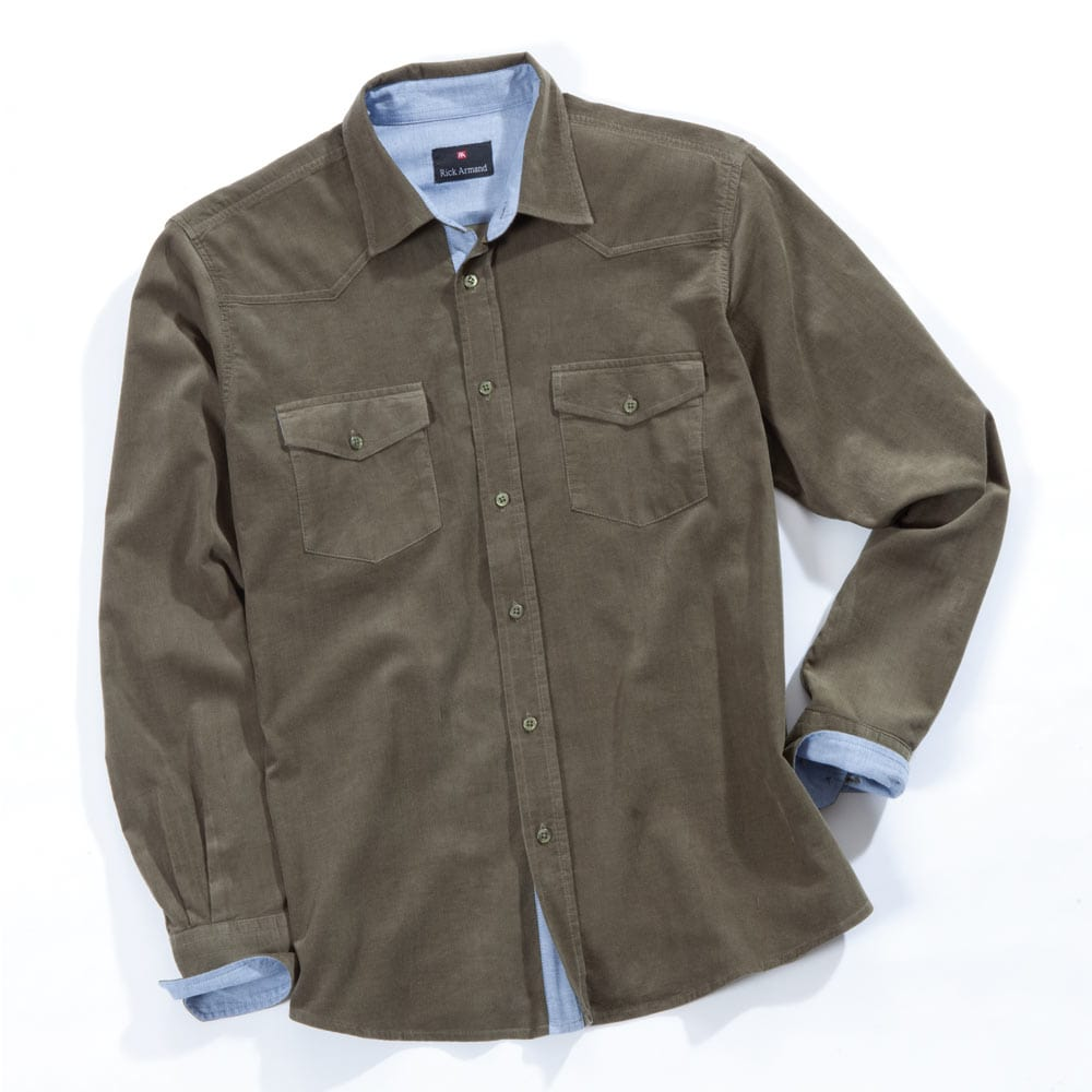 commander en toute simplicit chemise homme en velours mille raies chez eurotops. Black Bedroom Furniture Sets. Home Design Ideas