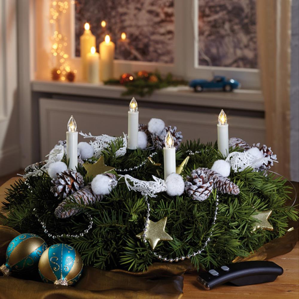 mini bougies de no l led et sans fil achetez ce. Black Bedroom Furniture Sets. Home Design Ideas