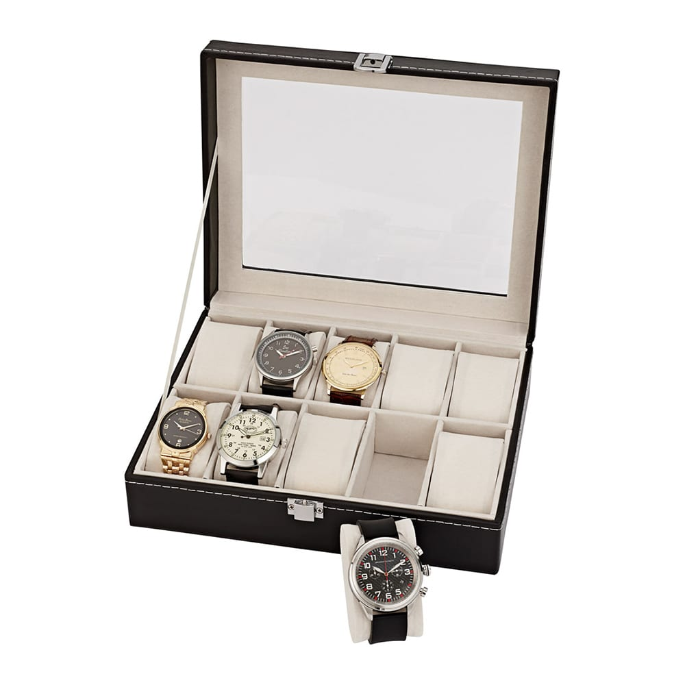 commander en toute simplicit coffret pour montres en cuir. Black Bedroom Furniture Sets. Home Design Ideas