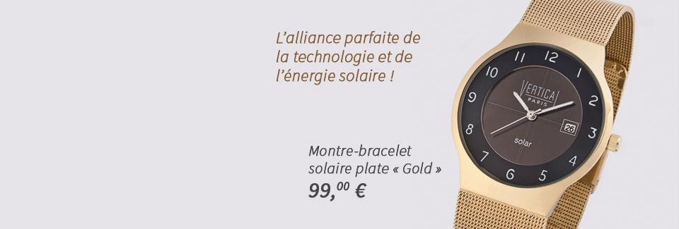 Montre-bracelet solaire plate